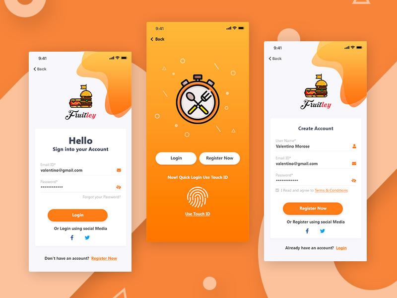 Restaurant registration form by arun kumar dribbble - Web application home page design ...