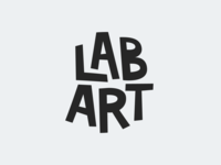 Lab Art - A logo for a school arts group