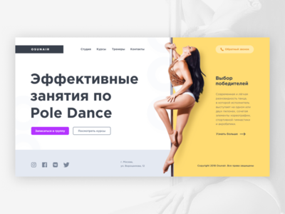 Pole Dance concept promo-site