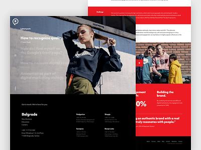 Represent Communications website design modern clean bright colors ui design ui website live