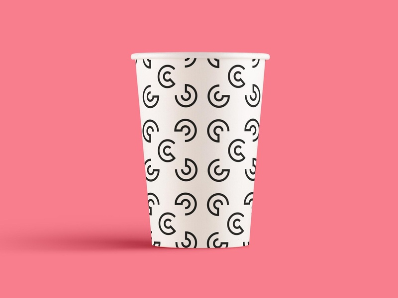 You're seeing squares branding vector designer pattern identity cup netherland koffietijd coffee
