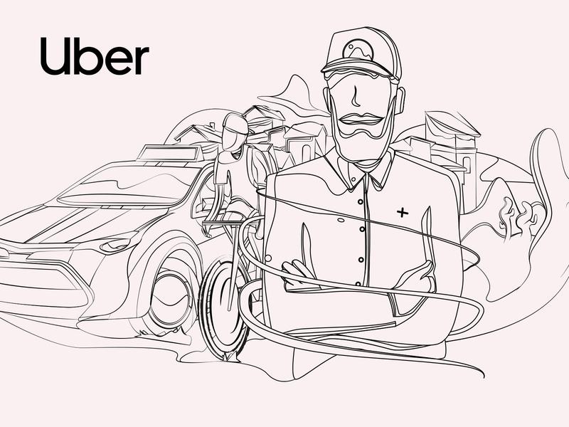 Uber - Money - Your fleet sketch character illustrations web amsterdam uber design interface creative illustration animation design uber
