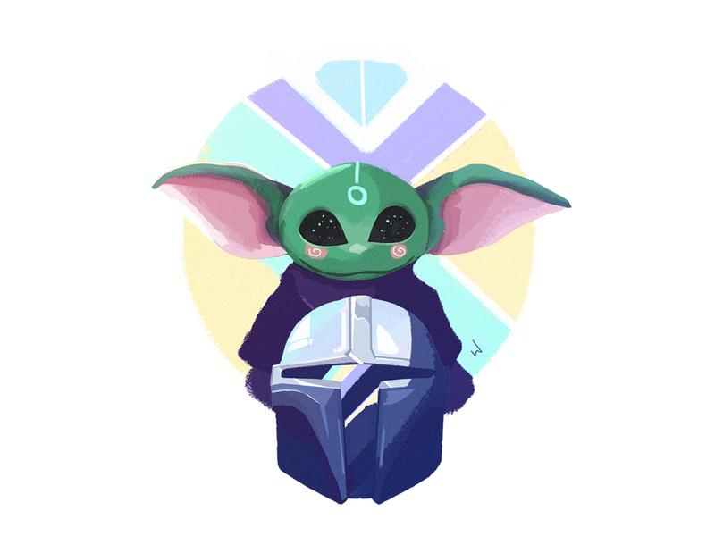 Star Wars - Mandalorian mandalorian concept illustrations yoda illustration
