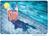 A Nation half-full or half-empty?- Editorial Illustration
