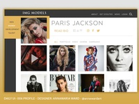 Daily UI - 006 IMG Model Paris Jackson