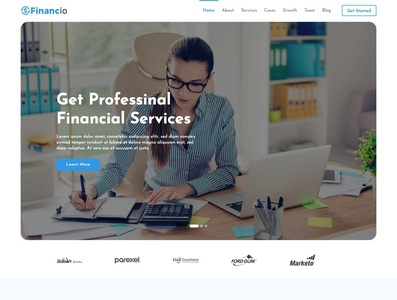 Free Finance And Investment Website Template - Financio