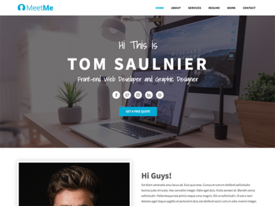 MeetMe   Free Bootstrap 4 Resume Website Template