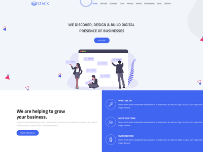 Stack - Free Bootstrap 4 Business Template corporate html free template clean landing page agency bootstrap 4 business bootstrap freebie