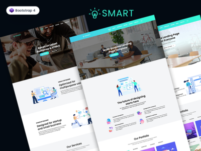 Bootstrap One Page Template - Smart