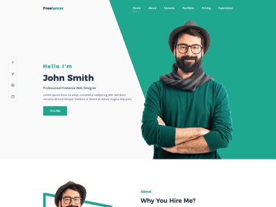 Free CV, Resume, Portfolio and Personal Profile Template clean bootstrap 4 free html freebie freelancer portfolio resume landing page template bootstrap