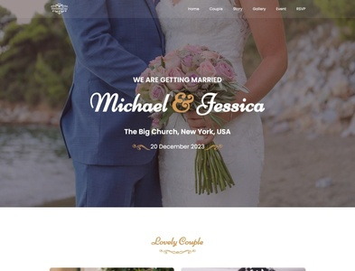 Free Wedding HTML Website Template - Wedding Day