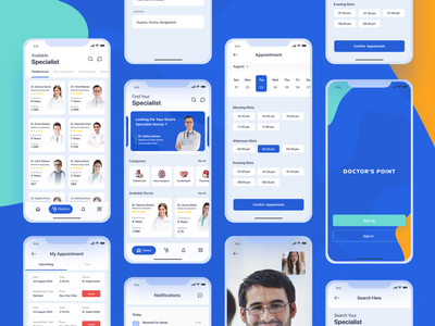 Doctor's Finding And Appointment App patient app doctor app doctor finding schedule video ios app design medical website design medical app medical searching dental app dental website design appointment booking appointments doctors