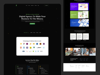 Zainiklab - Website Redesign minimal ui  ux uidesigner black ui black web ui software company software design design team design agency uxdesign uidesign zainiklab