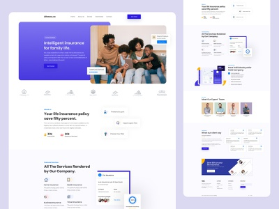 Website - Insurance Agency ux designer ui designer bangladesh hellosourav zainiklab car insurance health security healthcare security landing page concept landing page insurance app insurance company insurance agency