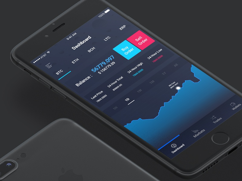 Coin Change - Cryptocurrency Exchange App exchange bitcoin app ui ux cryptocurrency mobile design