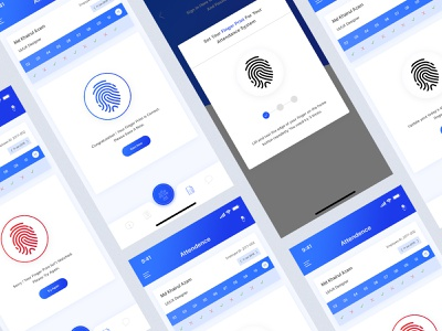 Attendance System - Team And Project Management app app mobile website minimal case study ux challenge ux design ui mobile animation mobile app error fingerprint attachment 2019 design system product system design attendance