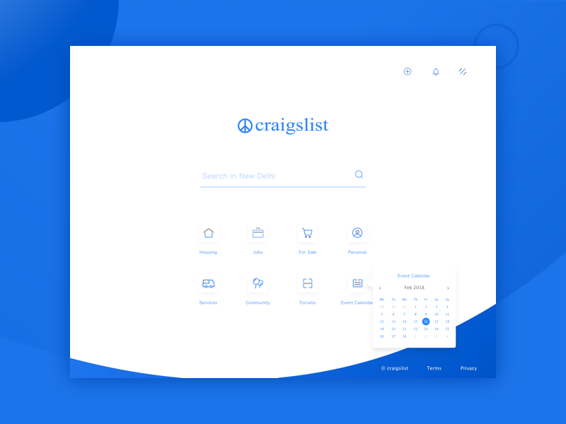 Craigslist Redesign by Linu LD | Dribbble | Dribbble