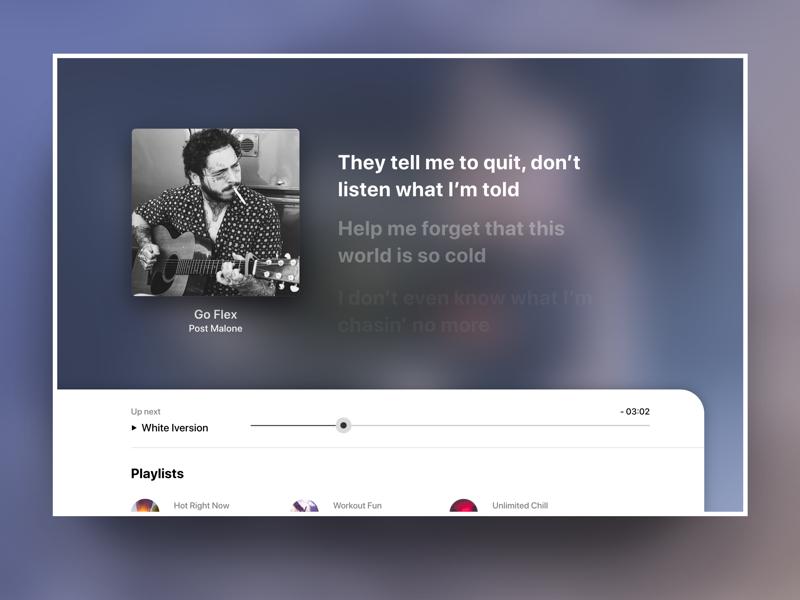 Apple TV - Music lyric display by Linu LD on Dribbble