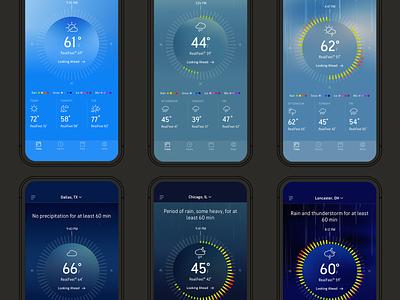 AccuWeather Beta sketch design ui weather app weather android ios