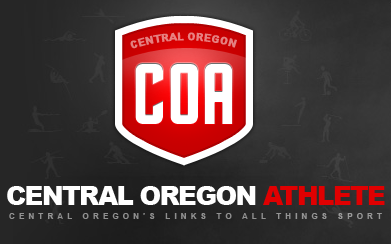 Central Oregon Athlete sports logo dark red