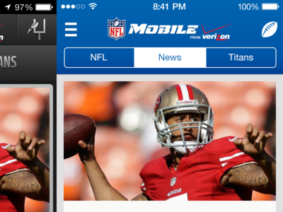 NFL Mobile iOS7 edition