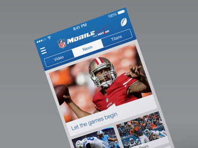 NFL Mobile iOS7 2nd edition