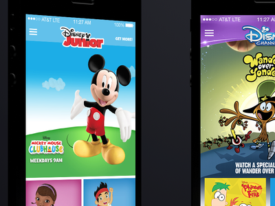 Redesign of WATCH Disney apps