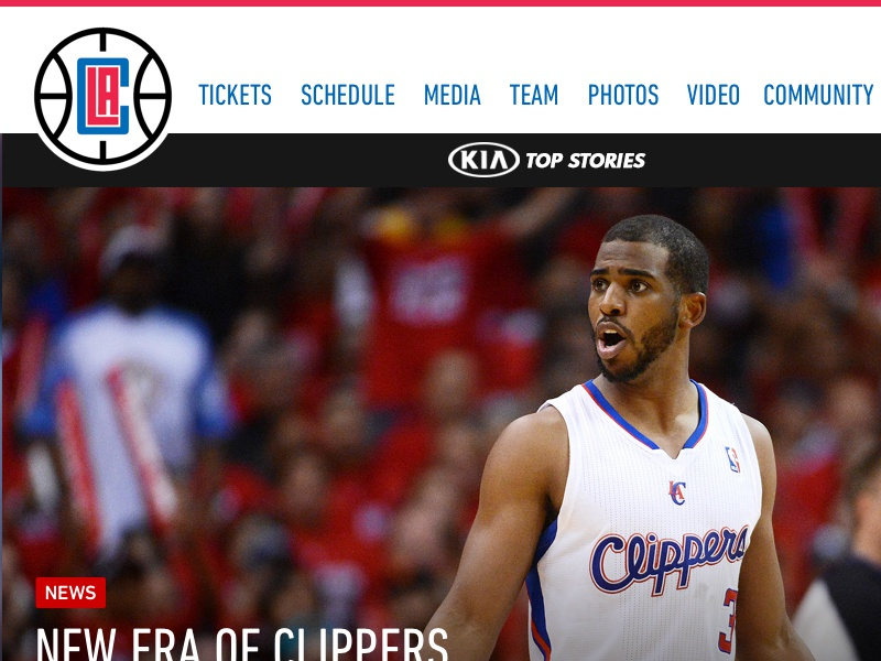 New LA Clippers logo = Inspirational site web la clippers design sports