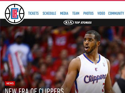 New LA Clippers logo = Inspirational site web la clippers design sports