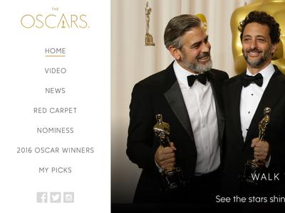 Oscars Homepage Concept