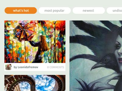 Deviant Art webpage concept
