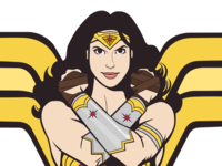 Gal Godot Comic Wonder Woman