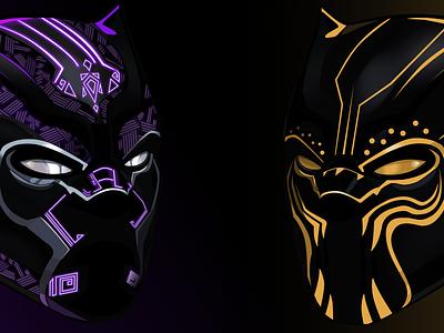 Black Panther and Erik Killmonger art black panther sketch marvel