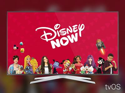 DisneyNOW tvOS app ui tv tvos disney