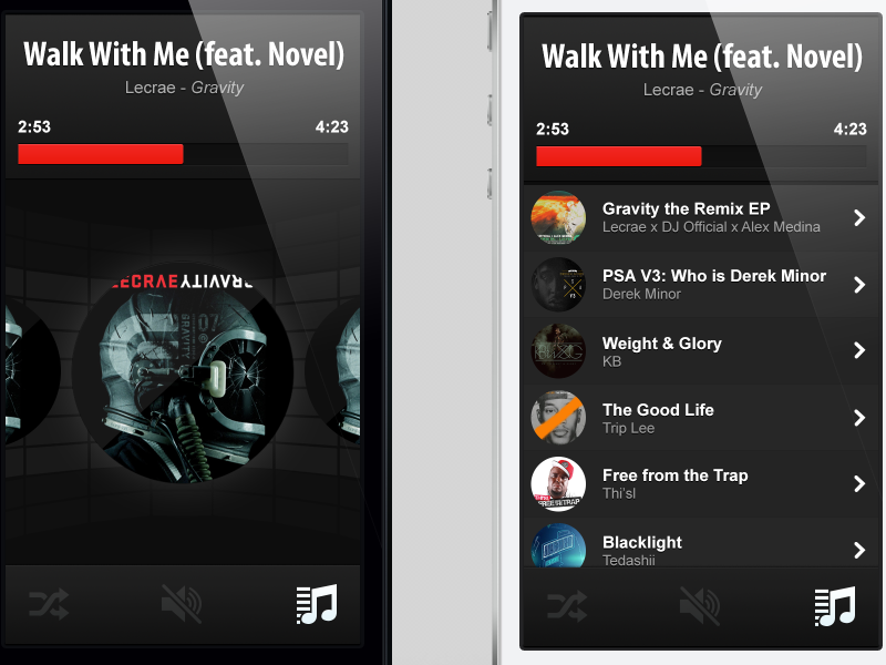 Playlist shot by Mike Brisk on Dribbble