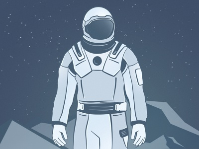astronaut spaceman web digital way stars discovery illustrator astronaut