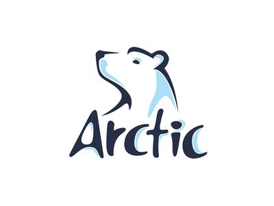 Arctic branding identity drink arctic bear brand logo