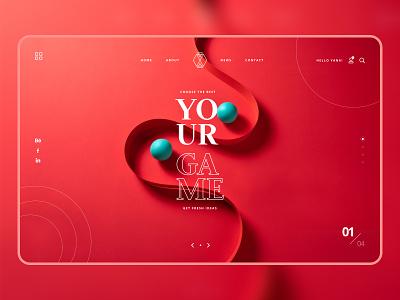 Your Game work illustration branding fashion instagram banner shop design web ui  ux design dribbble