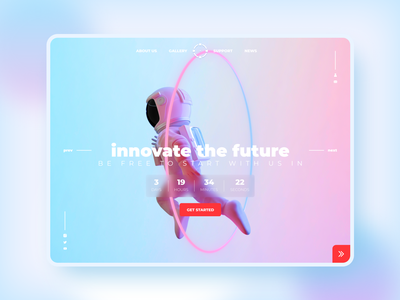 Space startup design illustration instagram startup space shot banner web ui  ux design dribbble