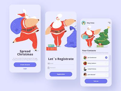 Christmas Gifts App illustration ui  ux design web celebration new year presents gifts app santaclaus christmas dribbble