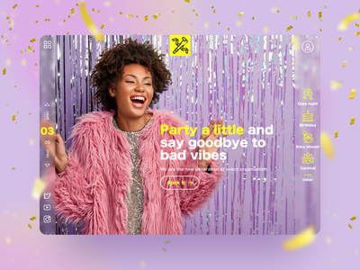 Wanna party? banner vibe celebration party event ui  ux design web dribbble