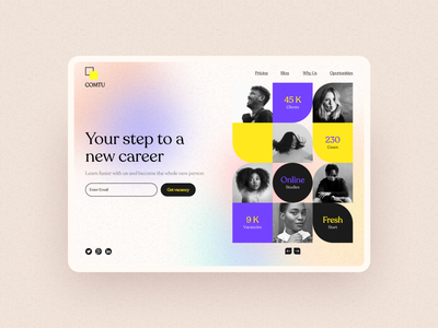 Work Search Puzzles career agency employees illustration shot banner shop design web ui  ux design dribbble freelance job vacancy work