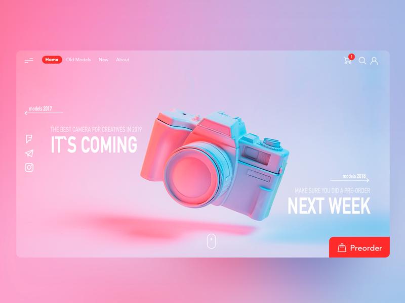 camera shop branding instagram banner shot design shop web ui  ux design dribbble