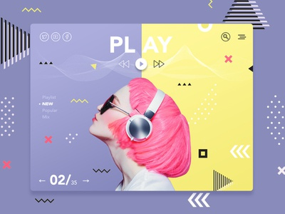 music play instagram style banner shot design shop web ui  ux design dribbble