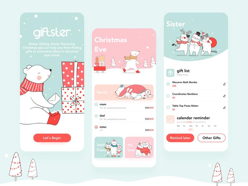 Christmas Reminder christmas instagram app style banner shot design shop web ui  ux design dribbble