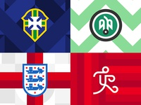 Geometric Football Badges - World Cup 2018 Russia