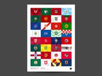 World Cup 2018 Geometric Football Badges