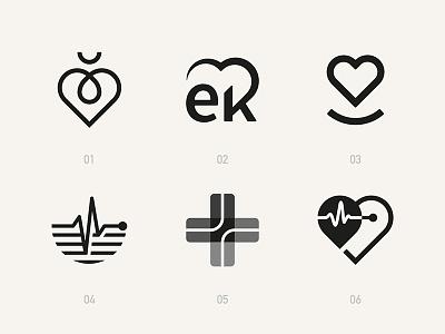 A few cardiology symbols that didn't quite make the cut. symbol cardiology heart behance logofolio identity icon branding brand logo design logo