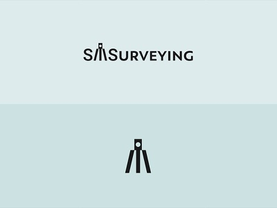 Surveying Logo Concept brand identity branding sms surveyor identity surveying m logomark symbol logo design logo