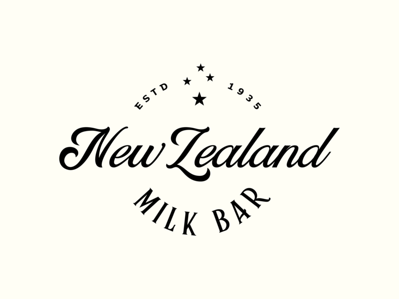 New Zealand Milk Bar identity logo artisan stars milk dairy bar cheese yoghurt dairy milk bar new zealand